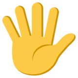 Hand with Fingers Splayed on JoyPixels 3.1