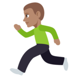 Person Running: Medium Skin Tone on JoyPixels 3.1