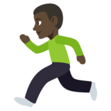 Person Running: Dark Skin Tone on JoyPixels 3.1