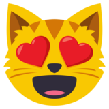 Image result for cat heart eyes emoji