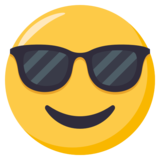 Smiling Face with Sunglasses on JoyPixels 3.1