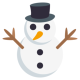 Snowman Without Snow on JoyPixels 3.1