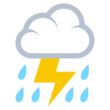 Cloud with Lightning and Rain on JoyPixels 3.1