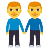 Men Holding Hands on JoyPixels 3.1