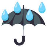 Umbrella with Rain Drops on JoyPixels 3.1