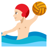 Person Playing Water Polo: Light Skin Tone on JoyPixels 3.1