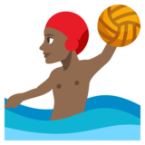 Person Playing Water Polo: Medium-Dark Skin Tone on JoyPixels 3.1