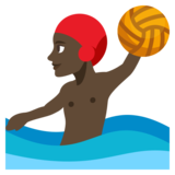 Person Playing Water Polo: Dark Skin Tone on JoyPixels 3.1