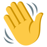 Waving Hand on JoyPixels 3.1