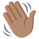 Waving Hand: Medium Skin Tone on JoyPixels 3.1