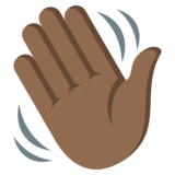 Waving Hand: Medium-Dark Skin Tone on EmojiOne 3.1