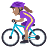 Woman Biking: Medium Skin Tone on JoyPixels 3.1