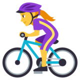Woman Biking on JoyPixels 3.1