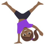 Woman Cartwheeling: Medium-Dark Skin Tone on JoyPixels 3.1