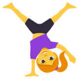 Woman Cartwheeling on JoyPixels 3.1