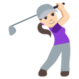 Woman Golfing: Light Skin Tone on JoyPixels 3.1
