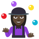 Woman Juggling: Dark Skin Tone on EmojiOne 3.1