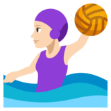 Woman Playing Water Polo: Light Skin Tone on JoyPixels 3.1