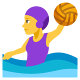 Woman Playing Water Polo on JoyPixels 3.1