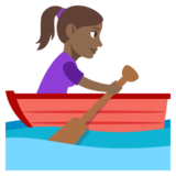 Woman Rowing Boat: Medium-Dark Skin Tone on JoyPixels 3.1