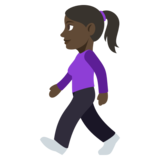 Woman Walking: Dark Skin Tone on JoyPixels 3.1