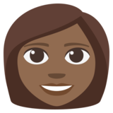 Woman: Medium-Dark Skin Tone on JoyPixels 3.1