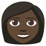 Woman: Dark Skin Tone on JoyPixels 3.1
