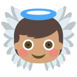 Baby Angel: Medium Skin Tone on JoyPixels 2.0