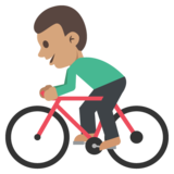 Person Biking: Medium Skin Tone on JoyPixels 2.0