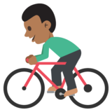Person Biking: Medium-Dark Skin Tone on JoyPixels 2.0