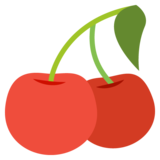 Cherries on EmojiOne 2.0