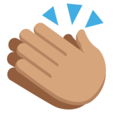 Clapping Hands: Medium Skin Tone on JoyPixels 2.0