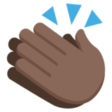 Clapping Hands: Dark Skin Tone on JoyPixels 2.0