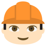 Construction Worker: Light Skin Tone on JoyPixels 2.0
