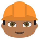 Construction Worker: Medium-Dark Skin Tone on JoyPixels 2.0