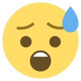 Anxious Face With Sweat on EmojiOne 2.0