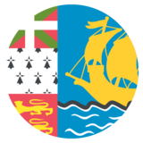 Flag: St. Pierre & Miquelon on JoyPixels 2.0