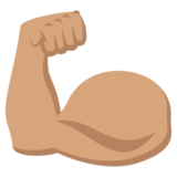 Flexed Biceps: Medium Skin Tone on JoyPixels 2.0