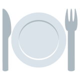 Fork and Knife With Plate on EmojiOne 2.0