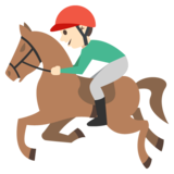 Horse Racing: Light Skin Tone on EmojiOne 2.0