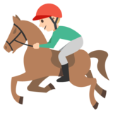 Horse Racing: Medium-Light Skin Tone on JoyPixels 2.0