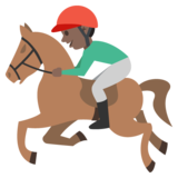 Horse Racing: Dark Skin Tone on JoyPixels 2.0