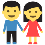 Woman and Man Holding Hands on JoyPixels 2.0