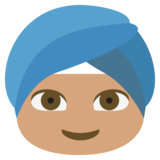 Person Wearing Turban: Medium Skin Tone on JoyPixels 2.0