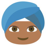 Person Wearing Turban: Medium-Dark Skin Tone on JoyPixels 2.0