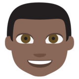 Man: Dark Skin Tone on JoyPixels 2.0