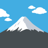 Mount Fuji on JoyPixels 2.0