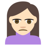 Person Frowning: Light Skin Tone on JoyPixels 2.0
