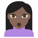Person Pouting: Dark Skin Tone on JoyPixels 2.0