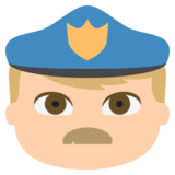 Police Officer: Medium-Light Skin Tone on JoyPixels 2.0